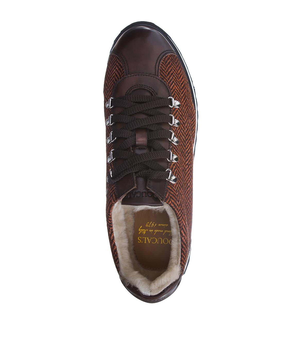 Кроссовки коричневые мужские Doucal's SU2156 03-5