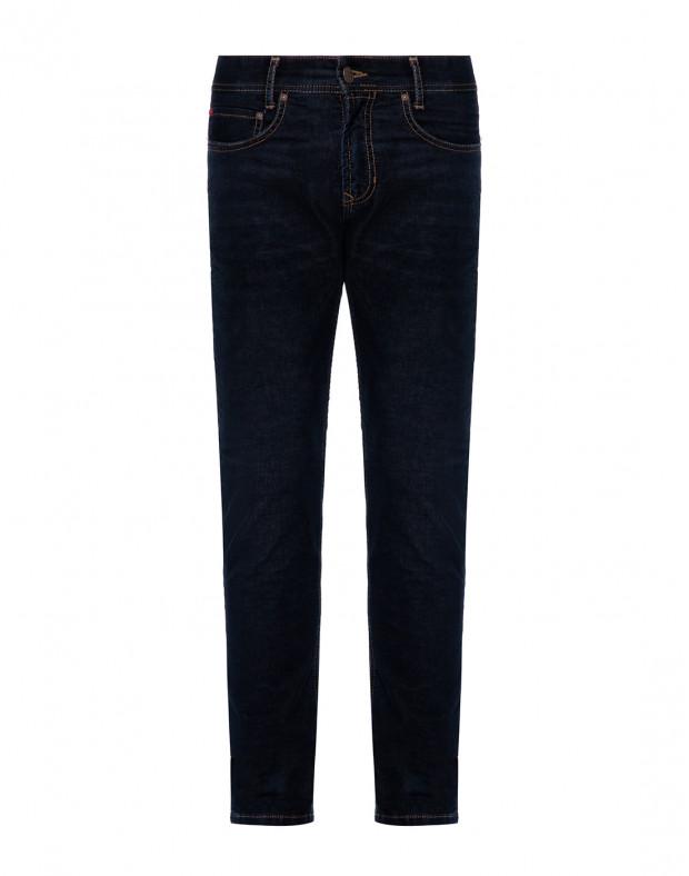 Мужские темно-синие вельветовые джинсы