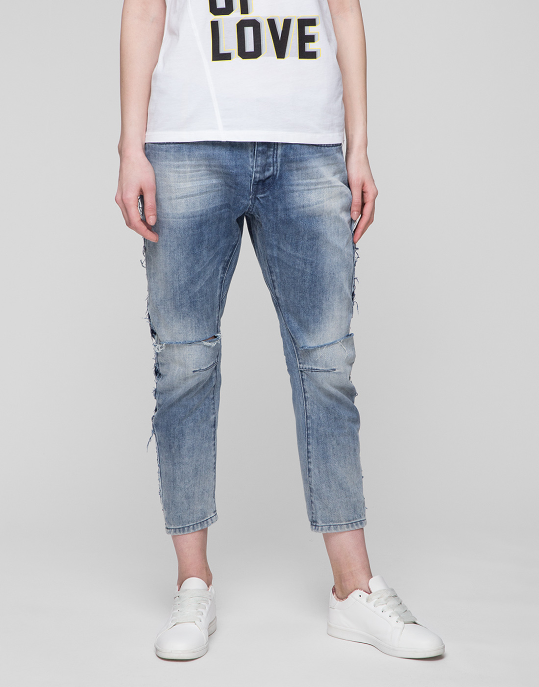 Женские голубые джинсы Oneteaspoon S20051-2