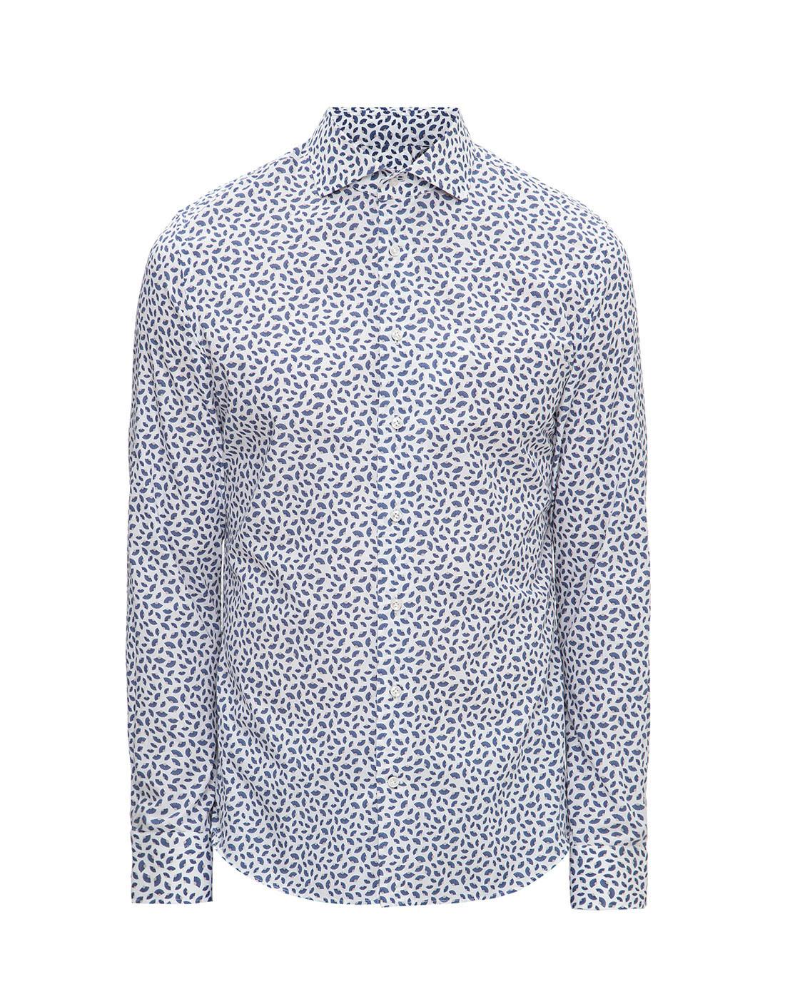 Мужская белая рубашка с принтом Profuomo SPPPH1C1077-1