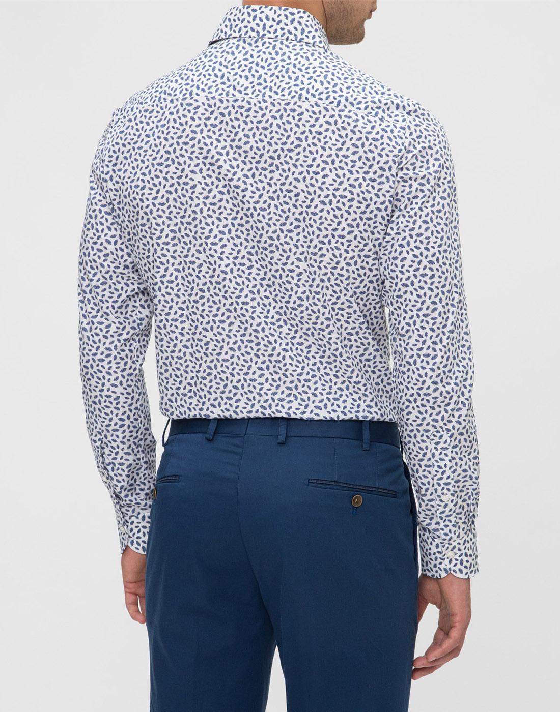 Мужская белая рубашка с принтом Profuomo SPPPH1C1077-4