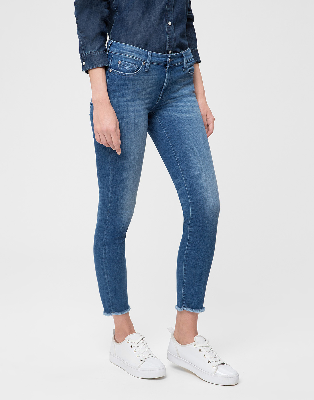 Женские синие джинсы 7 FAM S4U800WQ-3