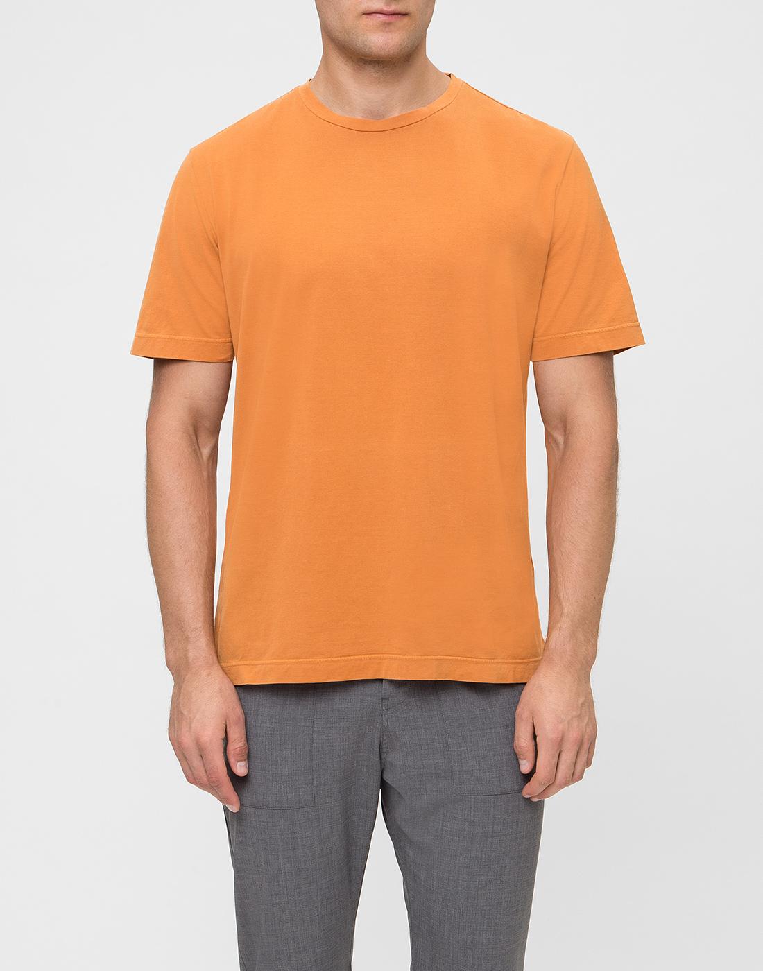 Мужская оранжевая футболка Capobianco S4M660.AL01 ARANCIONE-2