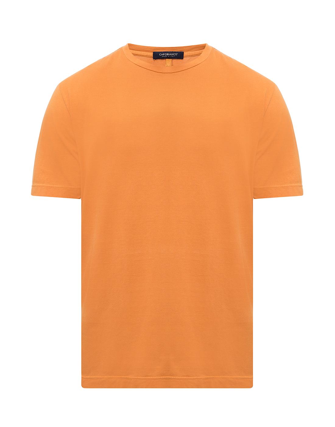 Мужская оранжевая футболка Capobianco S4M660.AL01 ARANCIONE-1