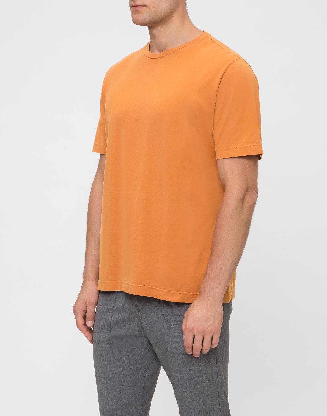 Мужская оранжевая футболка Capobianco S4M660.AL01 ARANCIONE-3