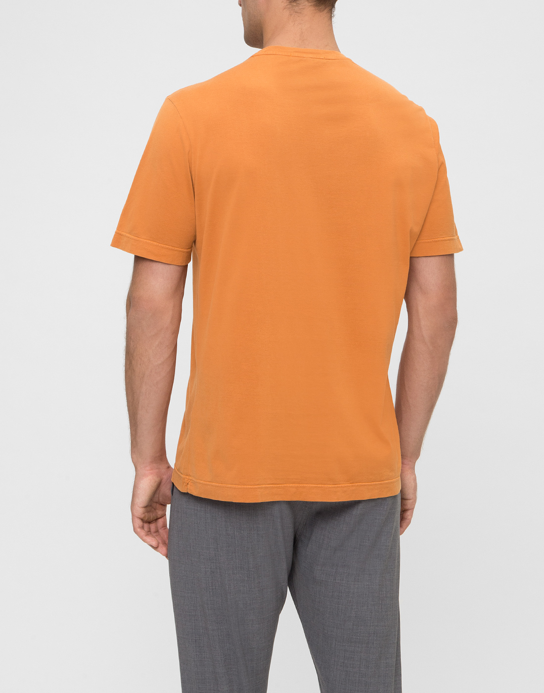 Мужская оранжевая футболка Capobianco S4M660.AL01 ARANCIONE-4