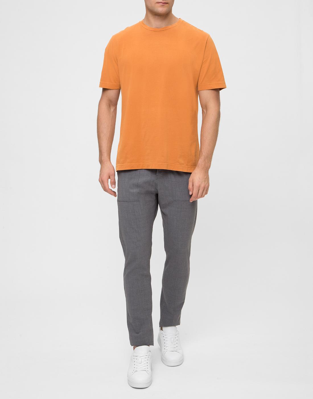 Мужская оранжевая футболка Capobianco S4M660.AL01 ARANCIONE-5