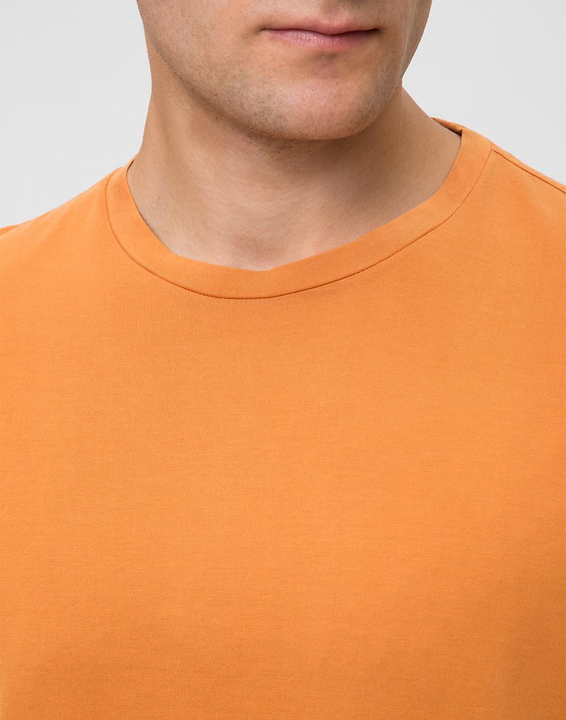 Мужская оранжевая футболка Capobianco S4M660.AL01 ARANCIONE-6