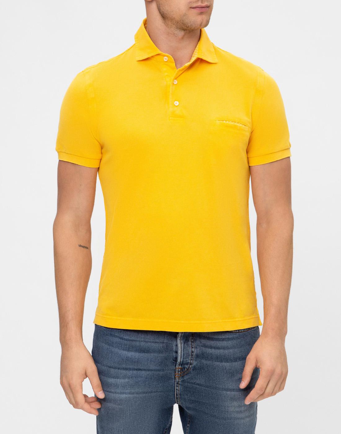 Мужское желтое поло Della Ciana S43305L/37715-2