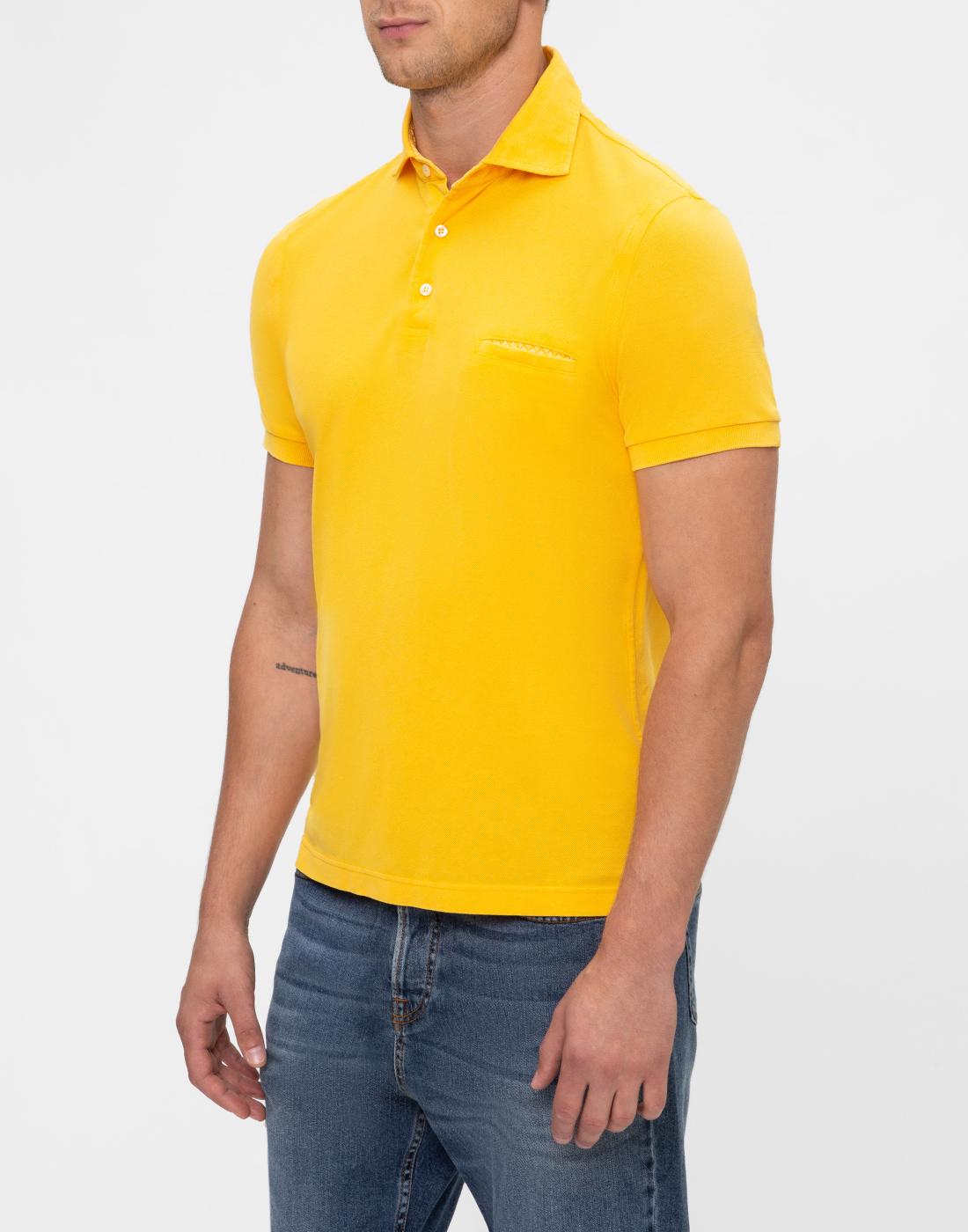 Мужское желтое поло Della Ciana S43305L/37715-3