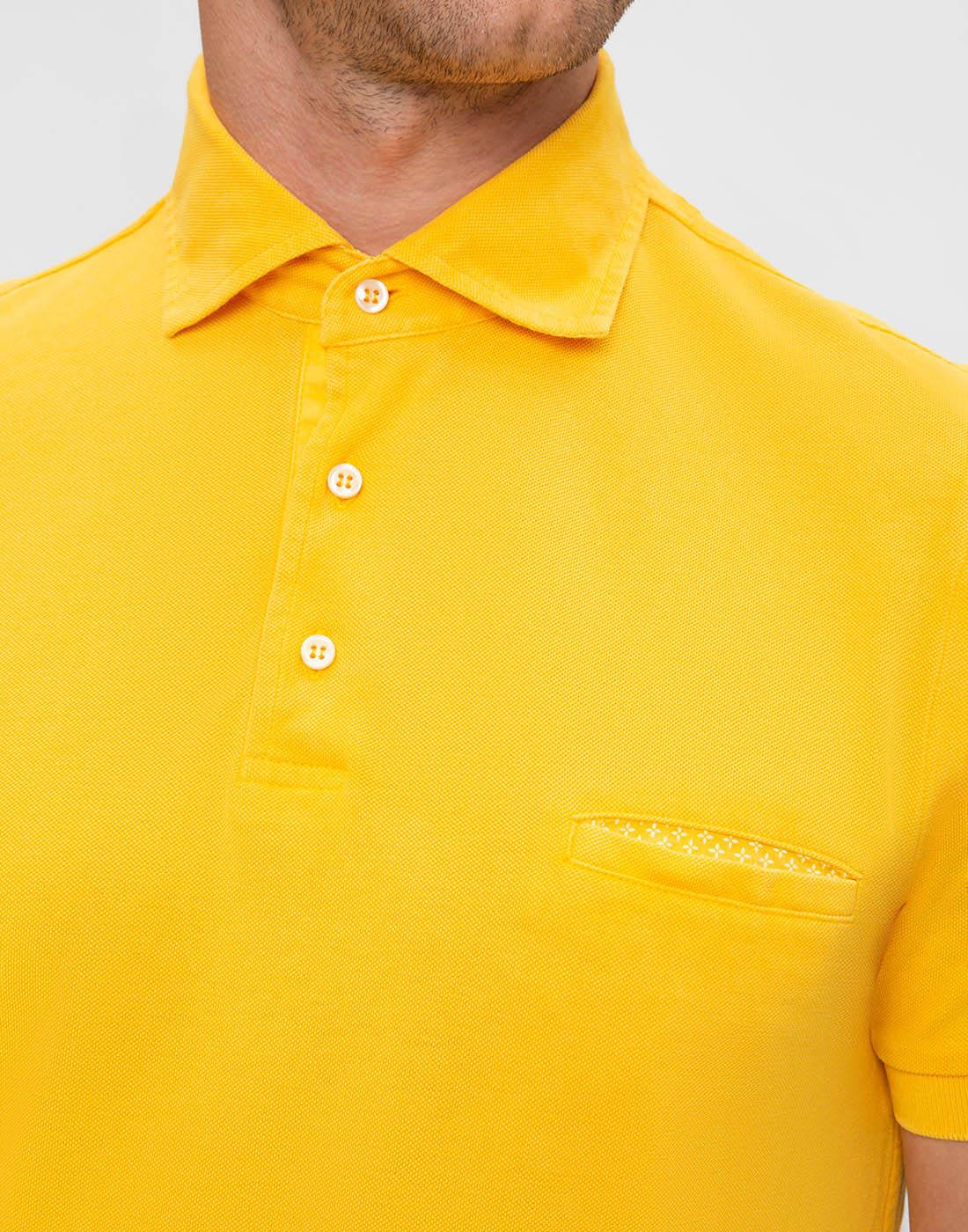Мужское желтое поло Della Ciana S43305L/37715-5