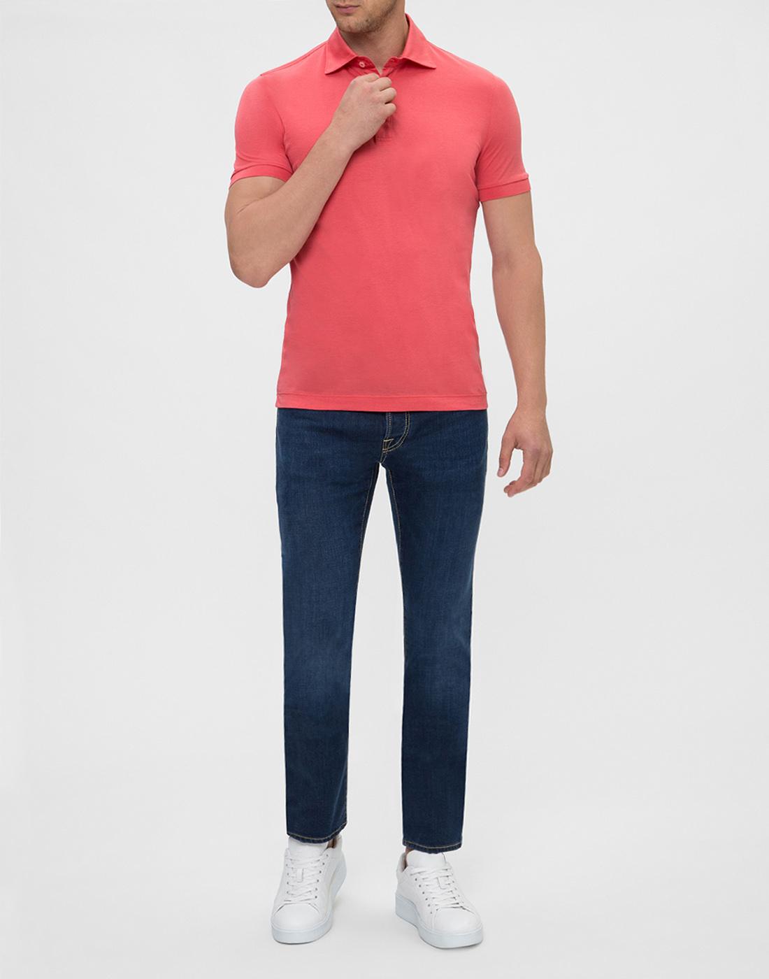 Мужское розовое поло Della Ciana S54101/28345-5