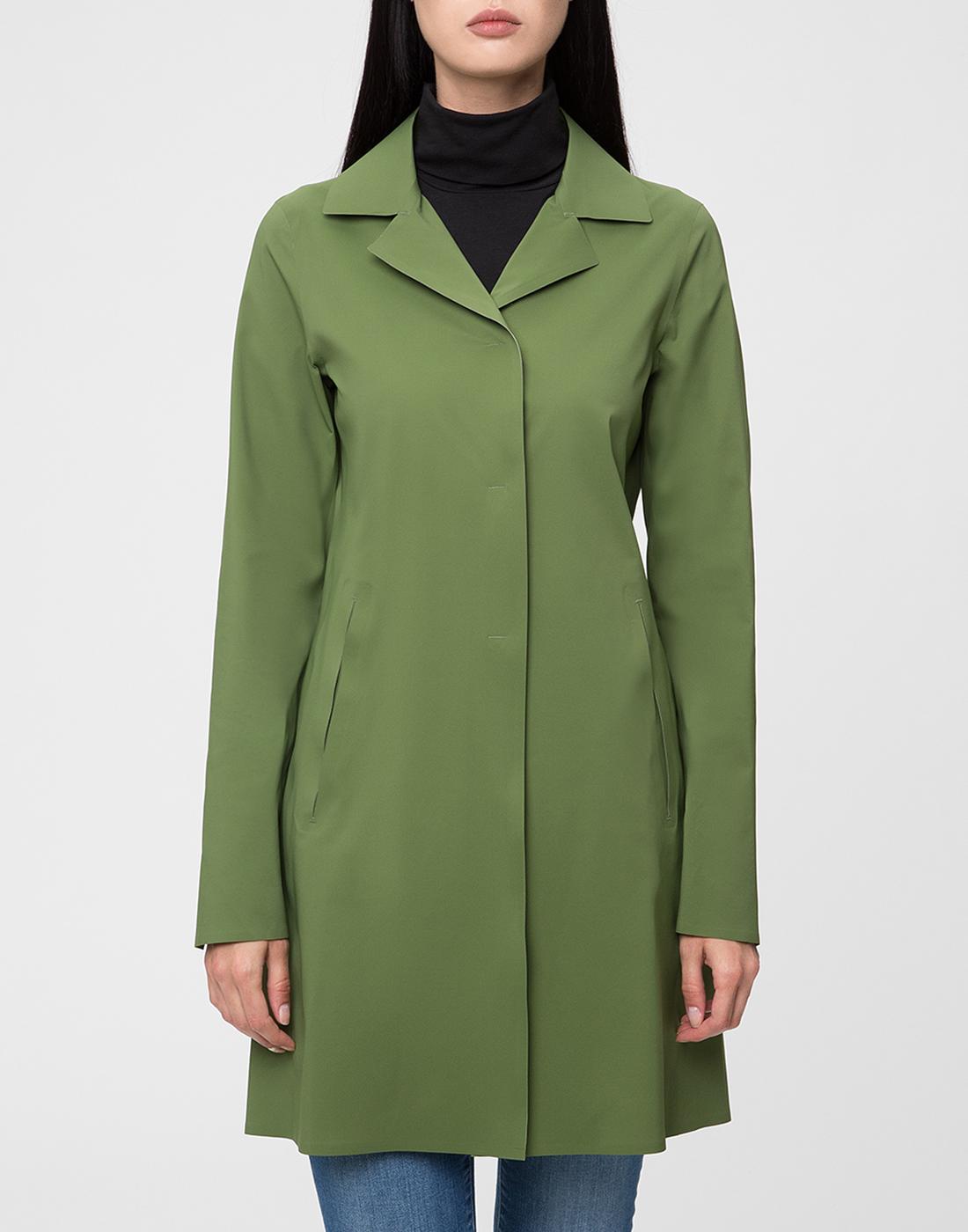 Женский зеленый плащ Herno SIM0035D-19289-7012-2