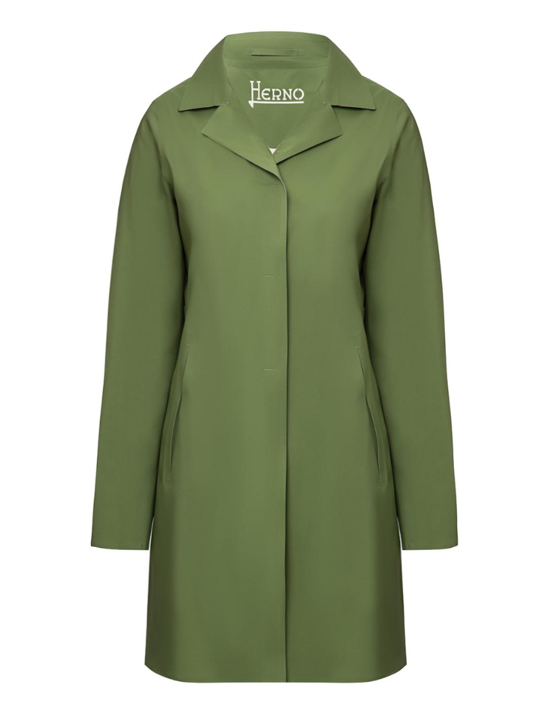 Женский зеленый плащ Herno SIM0035D-19289-7012-1