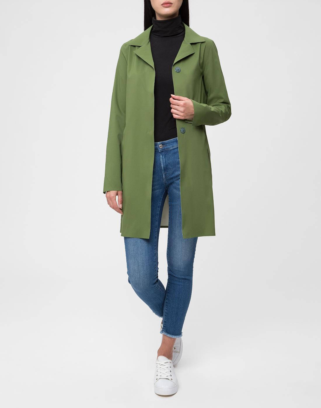 Женский зеленый плащ