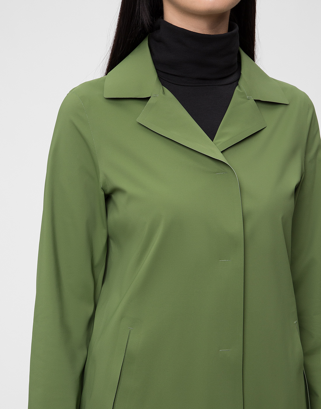 Женский зеленый плащ Herno SIM0035D-19289-7012-6