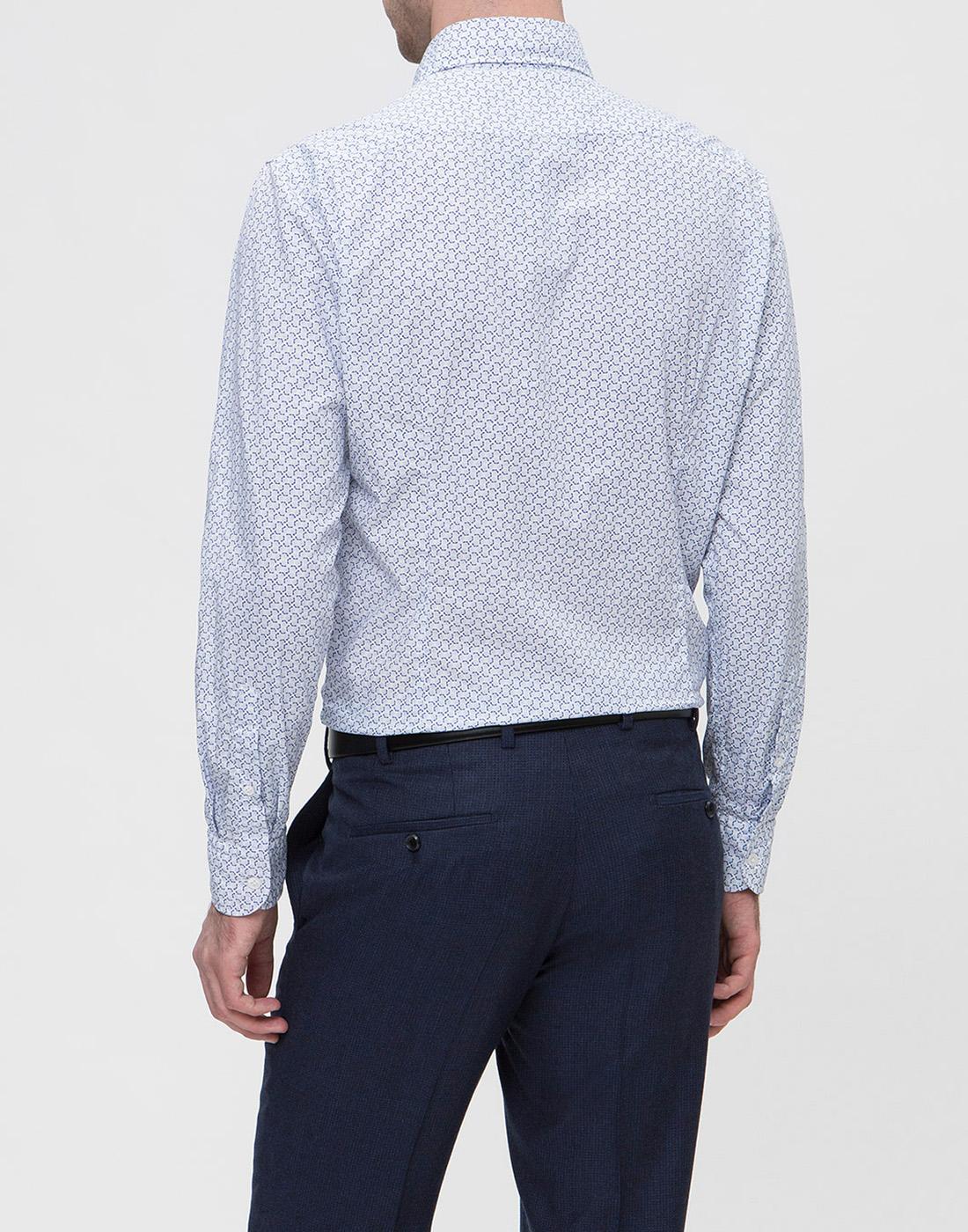 Мужская рубашка с принтом