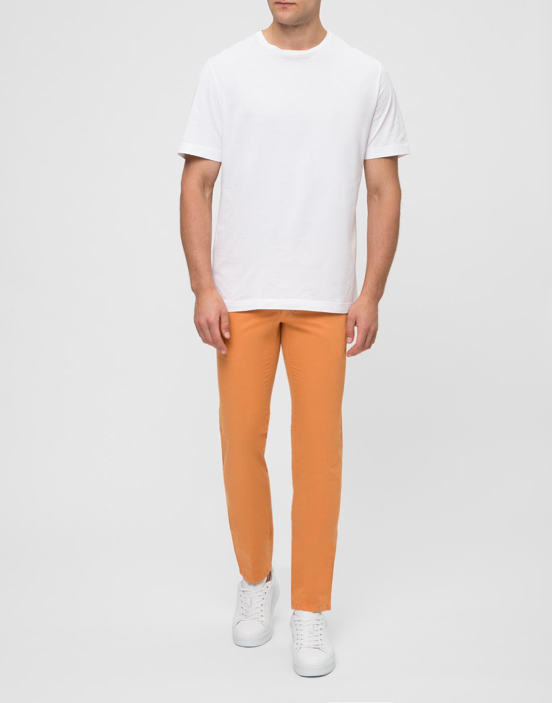 Мужские оранжевые чиносы
