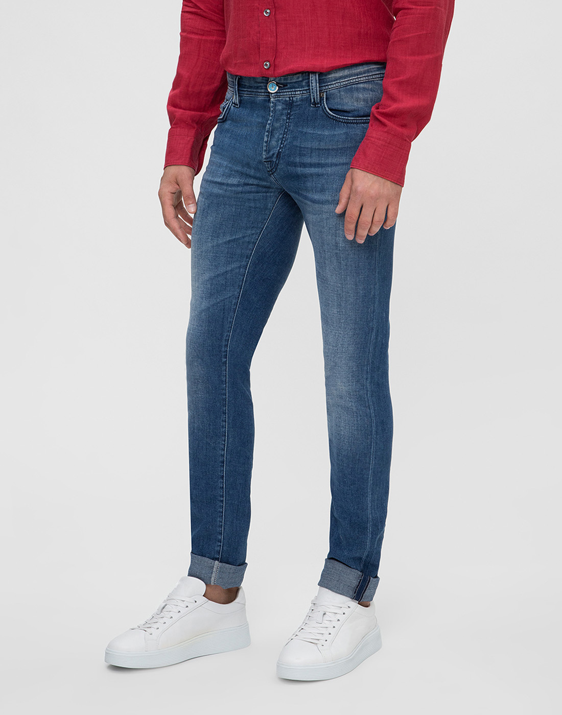 Мужские синие джинсы Leonardo