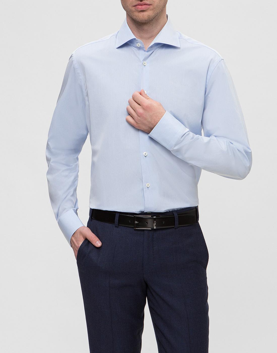 Мужская голубая рубашка Van Laack SS130657/720-2