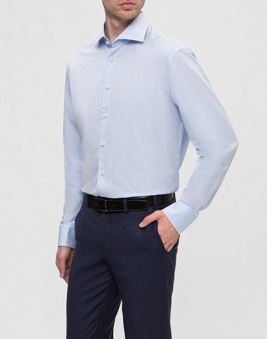 Мужская голубая рубашка Van Laack SS130657/720-3