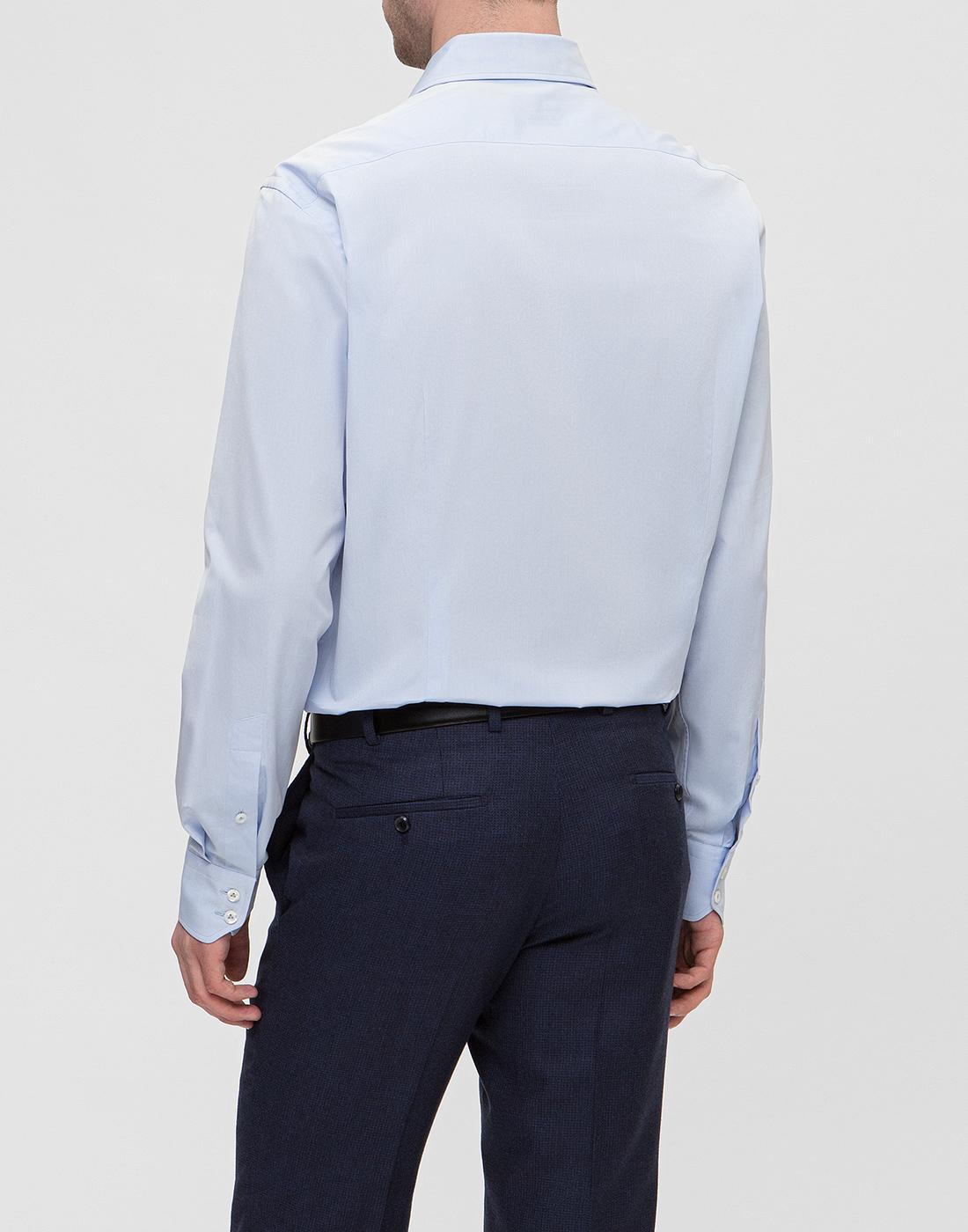 Мужская голубая рубашка Van Laack SS130657/720-4