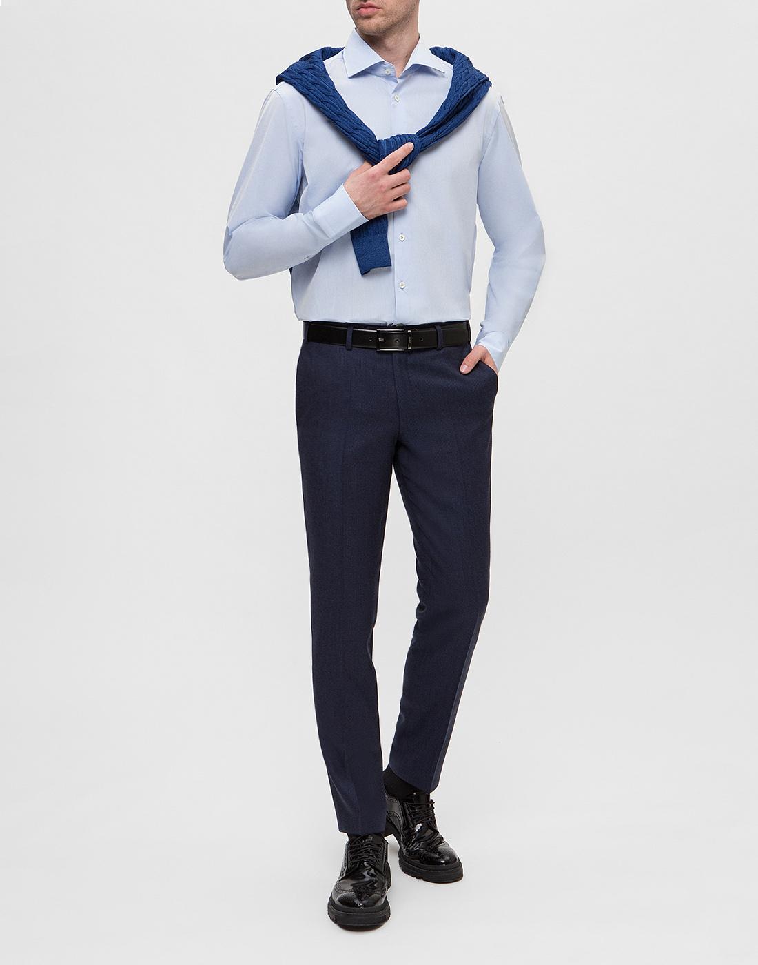 Мужская голубая рубашка Van Laack SS130657/720-5