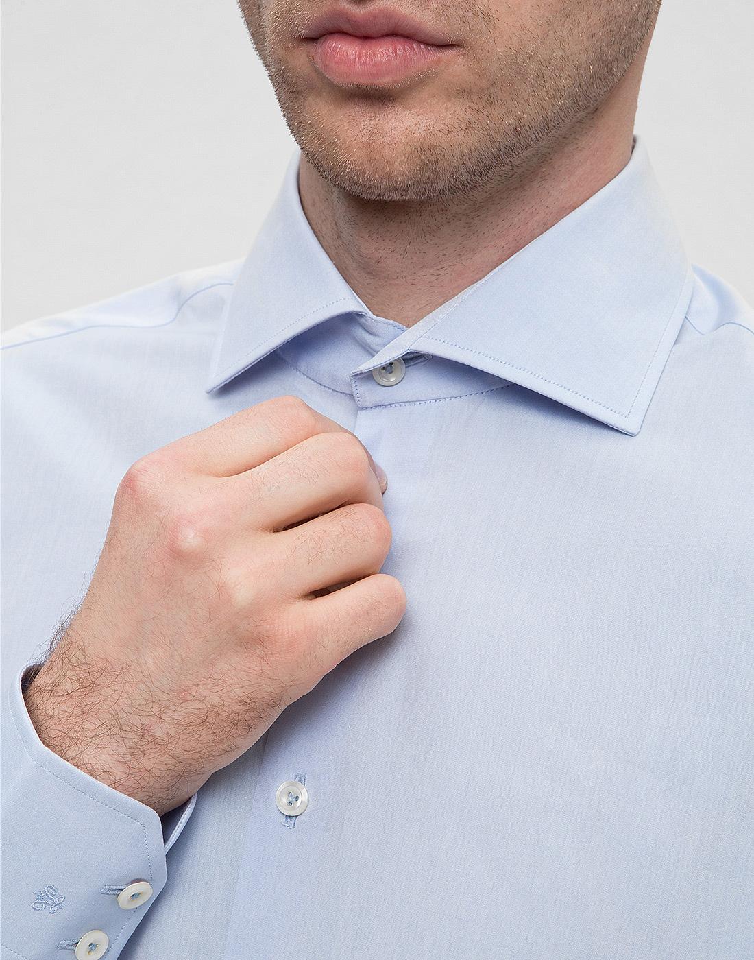Мужская голубая рубашка Van Laack SS130657/720-6