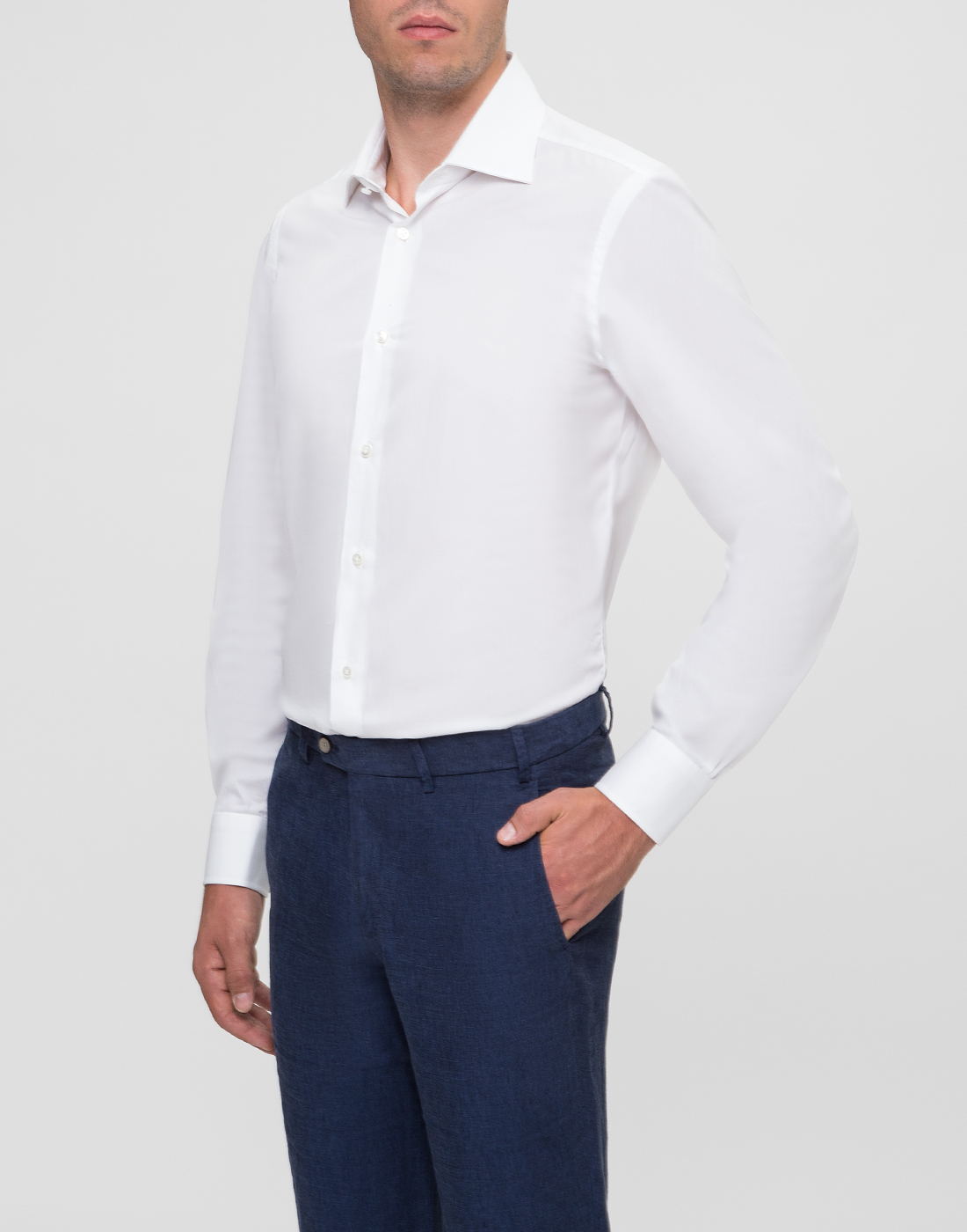 Мужская белая рубашка Barba SD2U634540301U-3