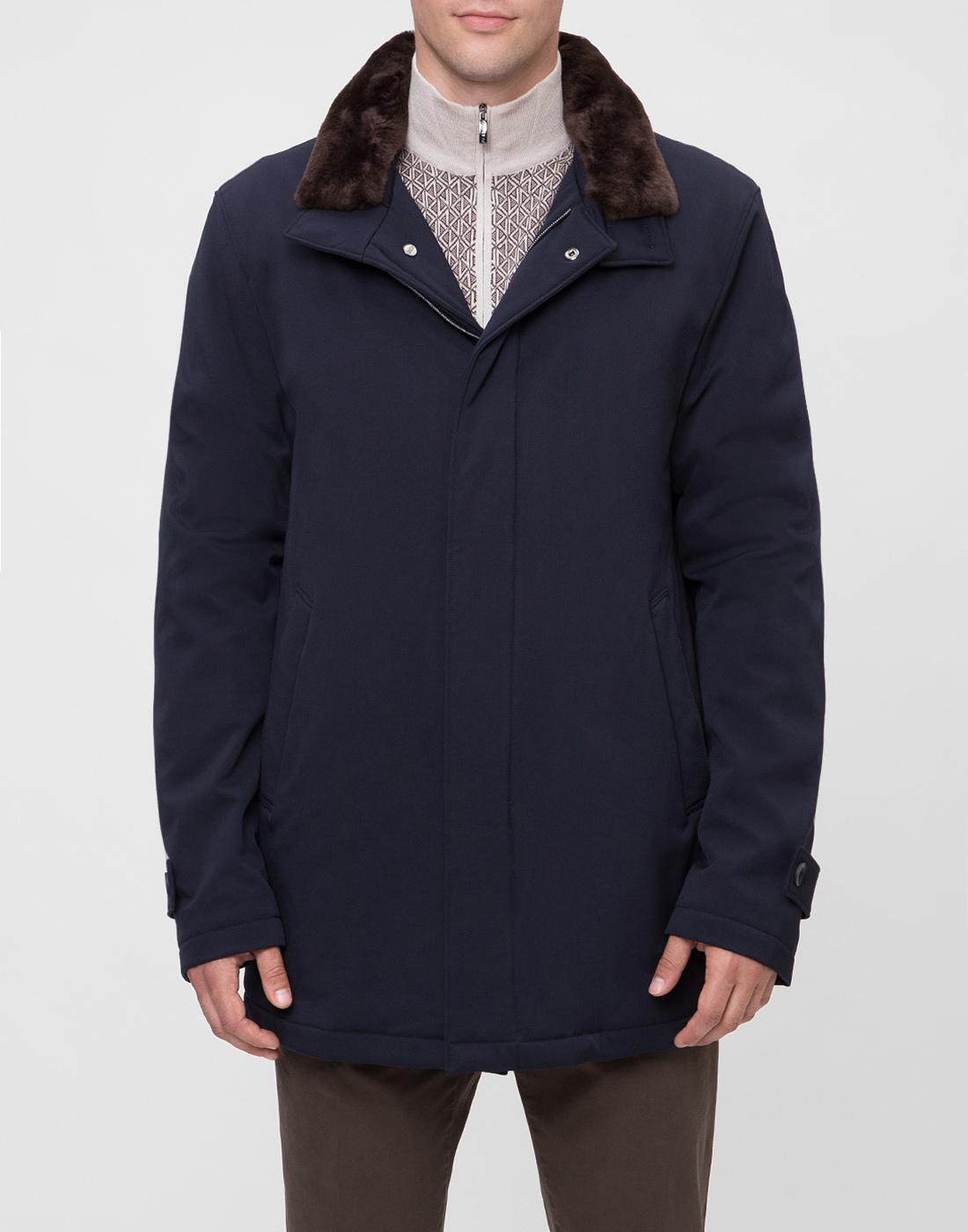 Мужская темно-синяя куртка Herno SCA0077U-2