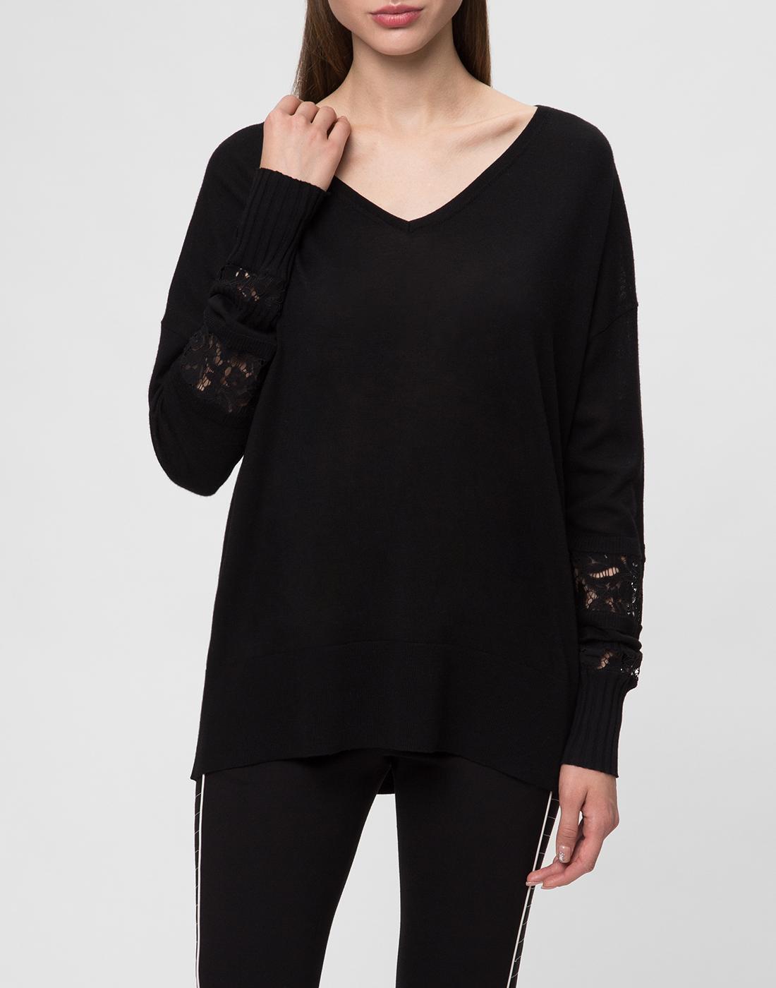 Женский черный шерстяной пуловер Dorothee Schumacher S910202-2