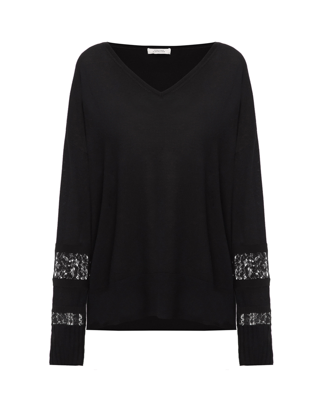 Женский черный шерстяной пуловер Dorothee Schumacher S910202-1