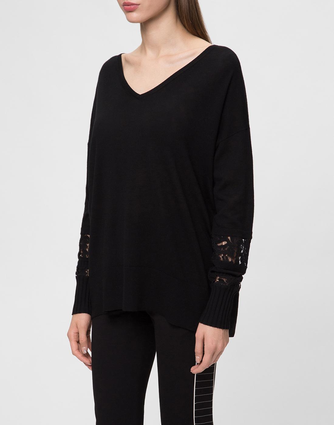 Женский черный шерстяной пуловер Dorothee Schumacher S910202-3
