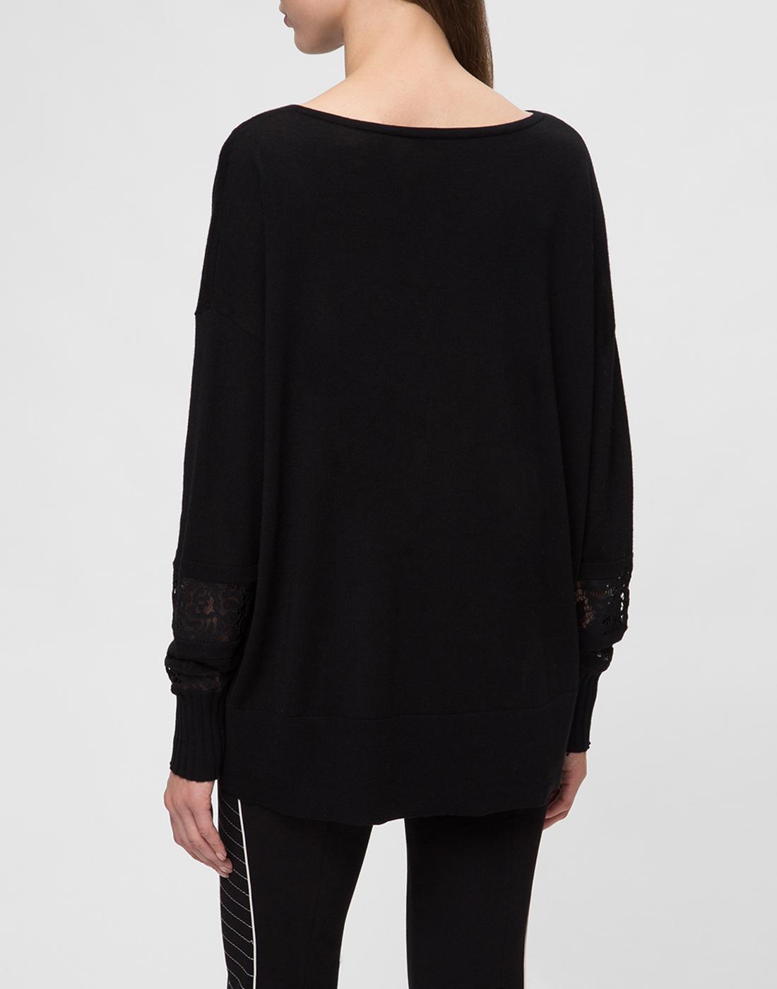 Женский черный шерстяной пуловер Dorothee Schumacher S910202-4