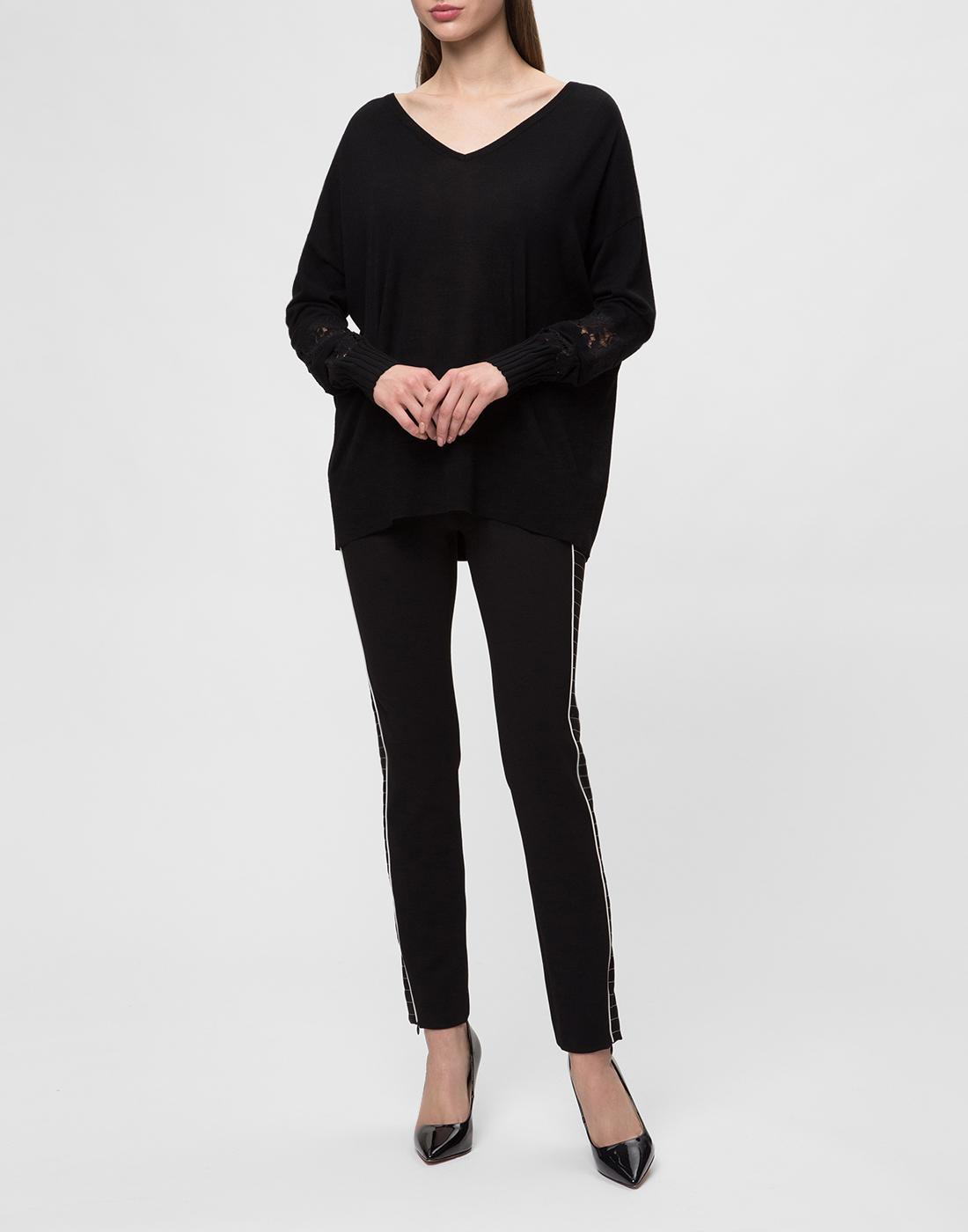 Женский черный шерстяной пуловер Dorothee Schumacher S910202-5