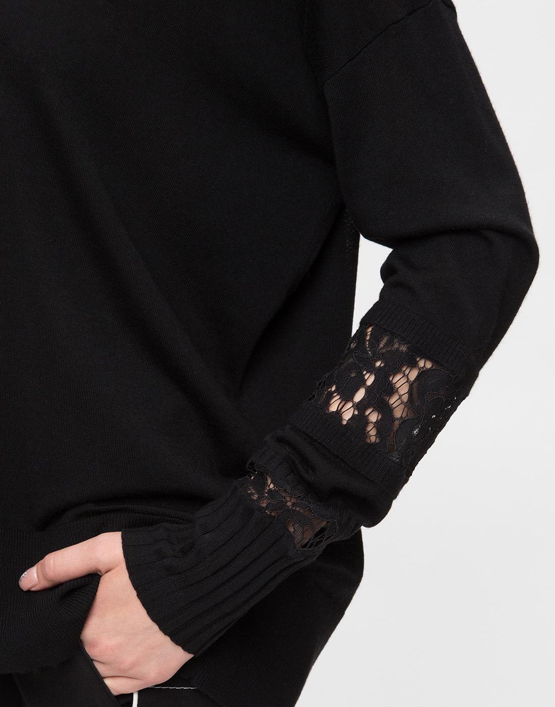 Женский черный шерстяной пуловер Dorothee Schumacher S910202-6