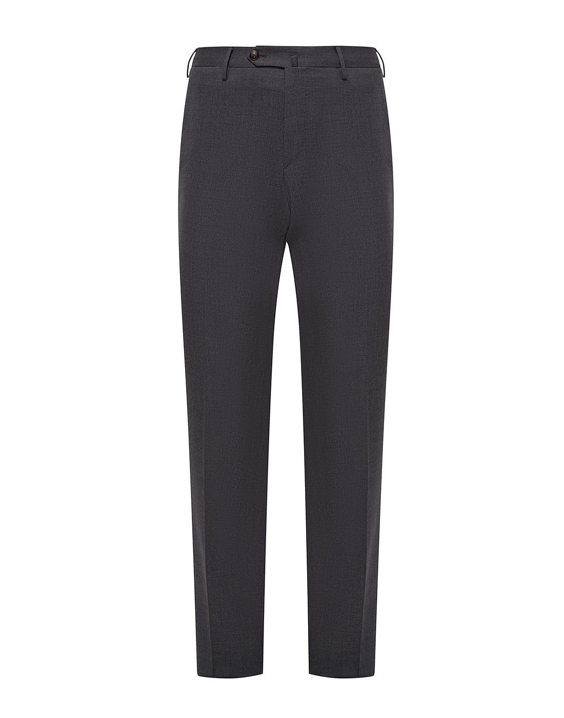 Мужские серые шерстяные брюки