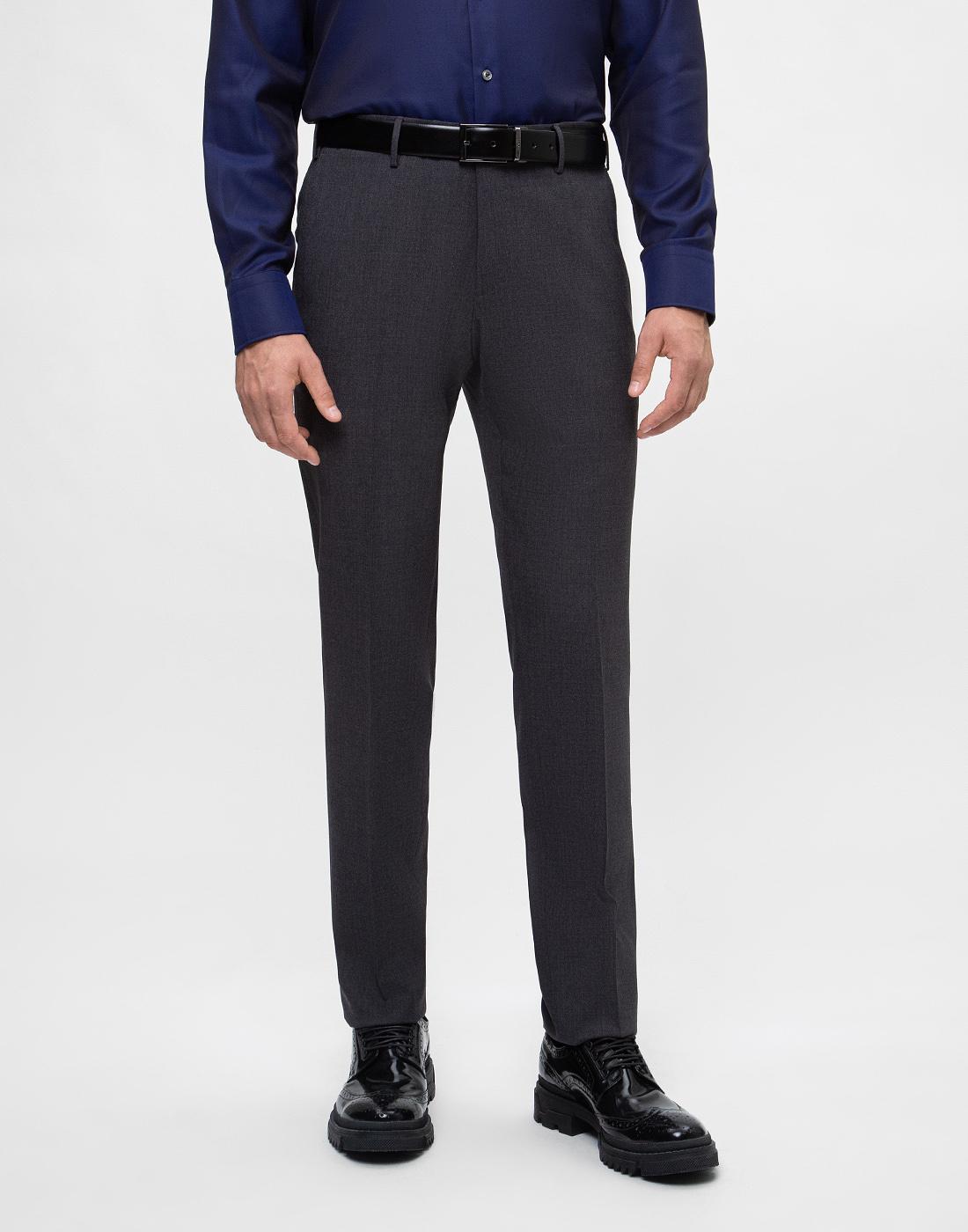 Мужские серые шерстяные брюки PT STO28 0240-2