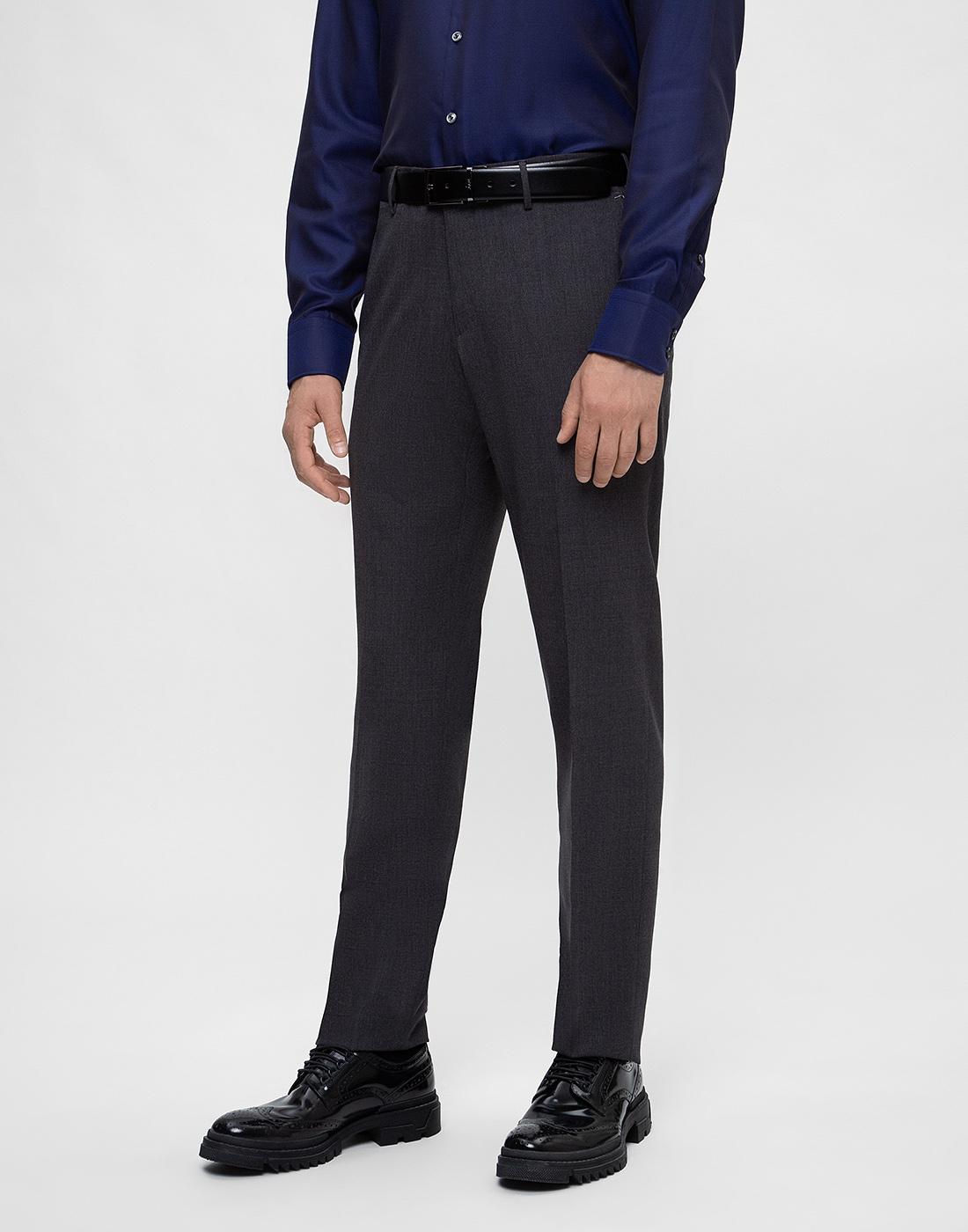 Мужские серые шерстяные брюки PT STO28 0240-3
