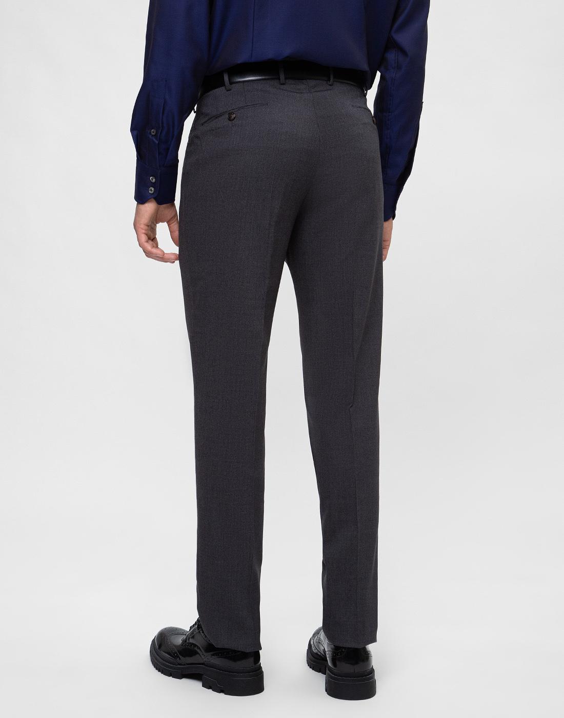 Мужские серые шерстяные брюки PT STO28 0240-4