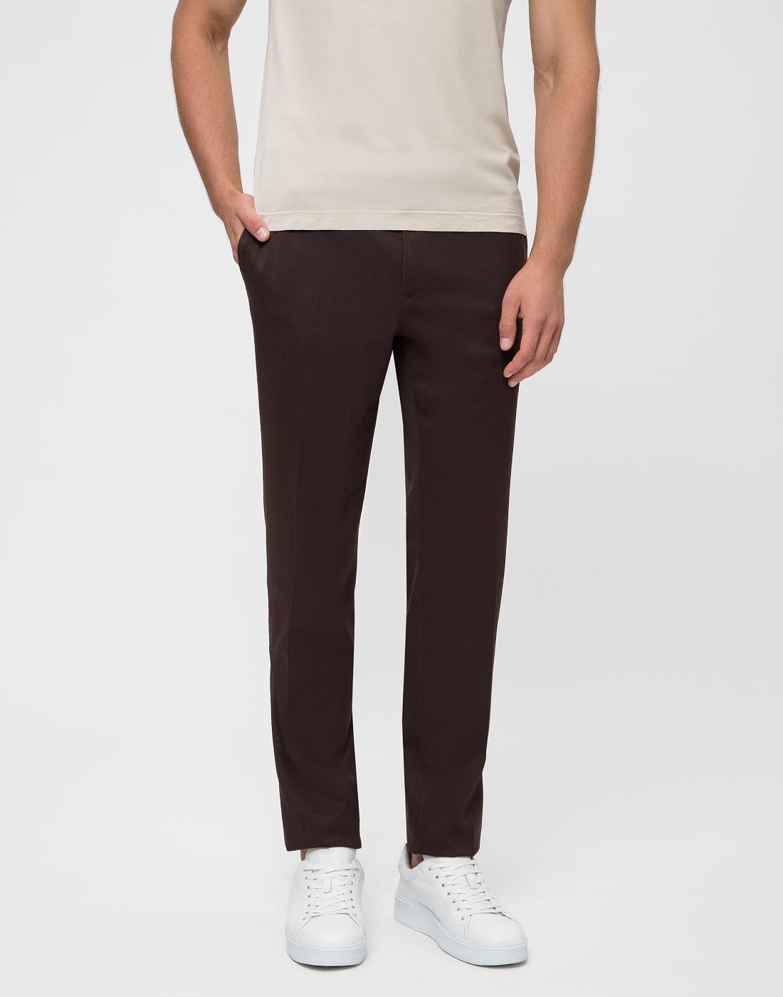 Мужские коричневые шерстяные брюки PT SIX17 0180-2