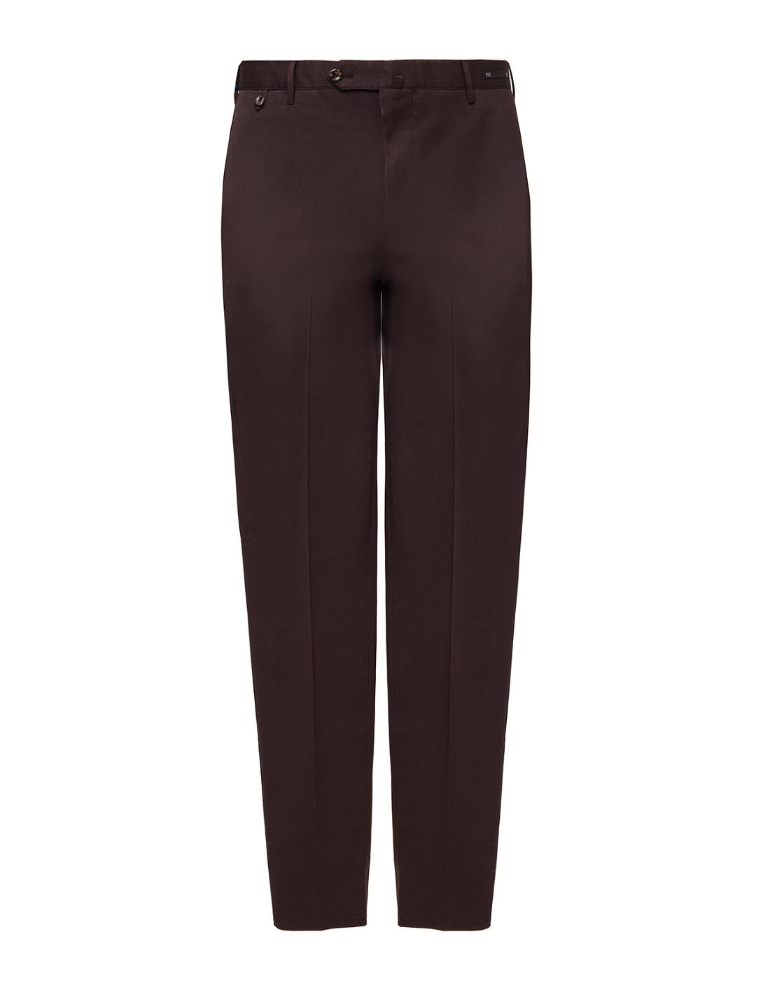 Мужские коричневые шерстяные брюки PT SIX17 0180-1