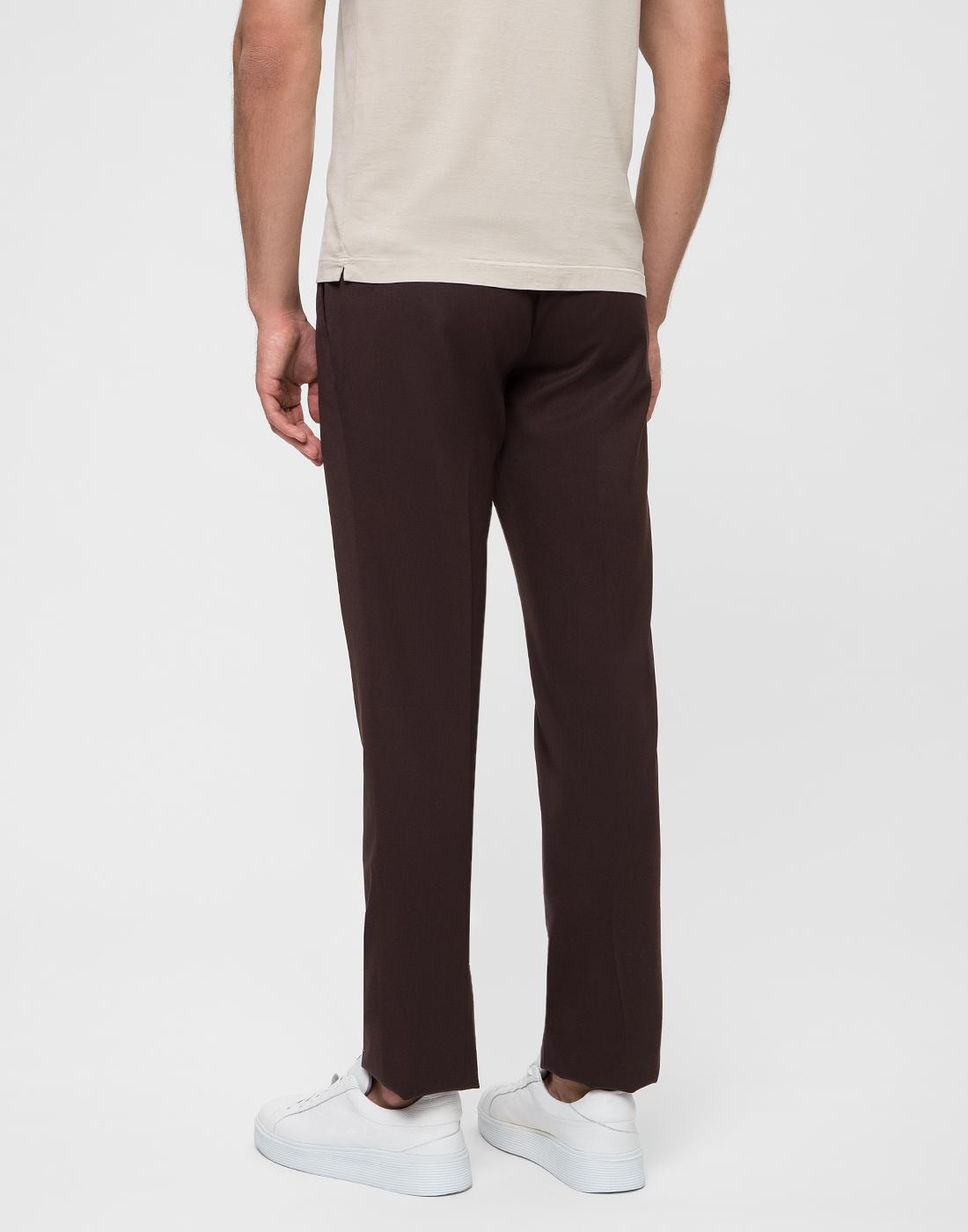 Мужские коричневые шерстяные брюки PT SIX17 0180-4