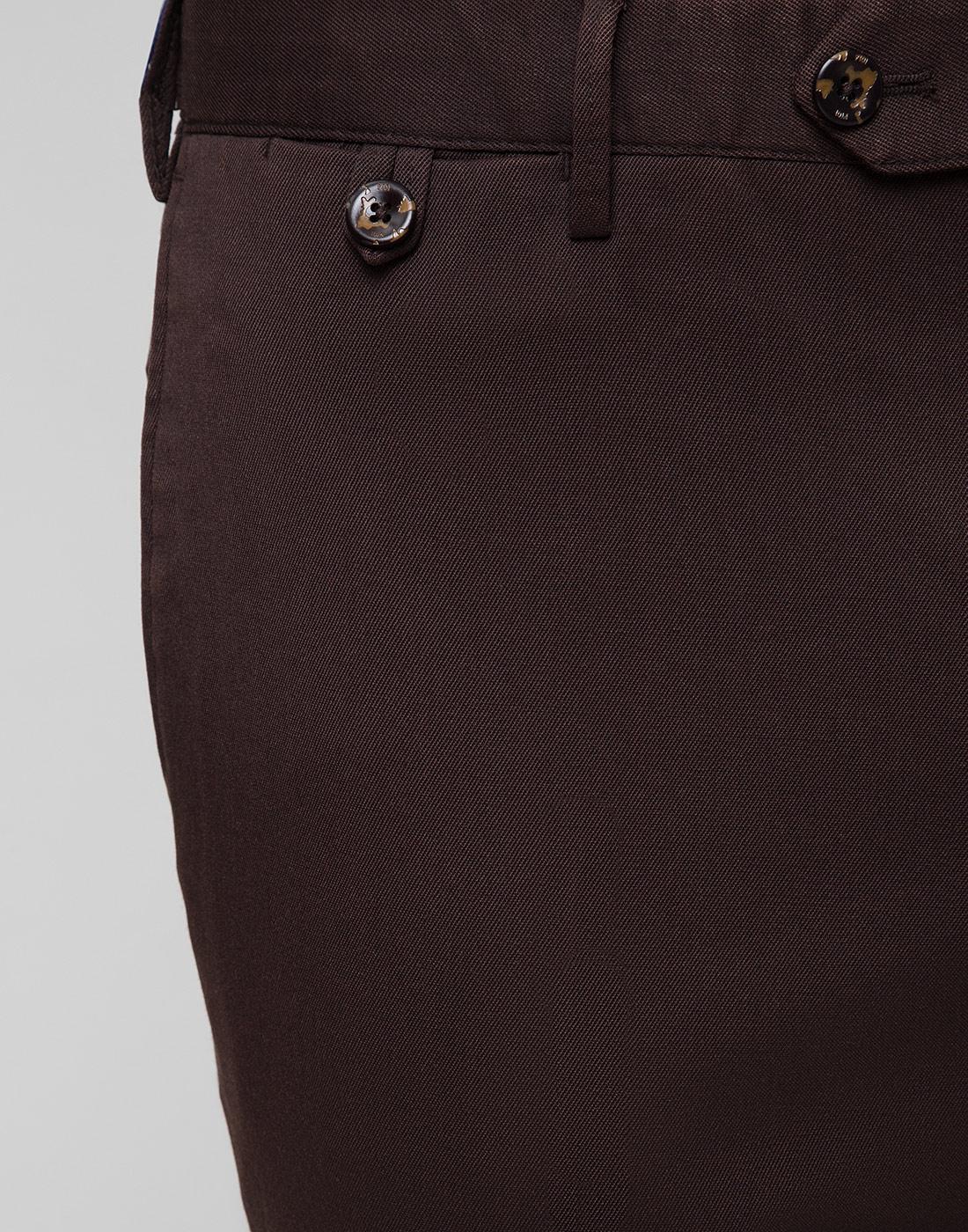 Мужские коричневые шерстяные брюки PT SIX17 0180-6