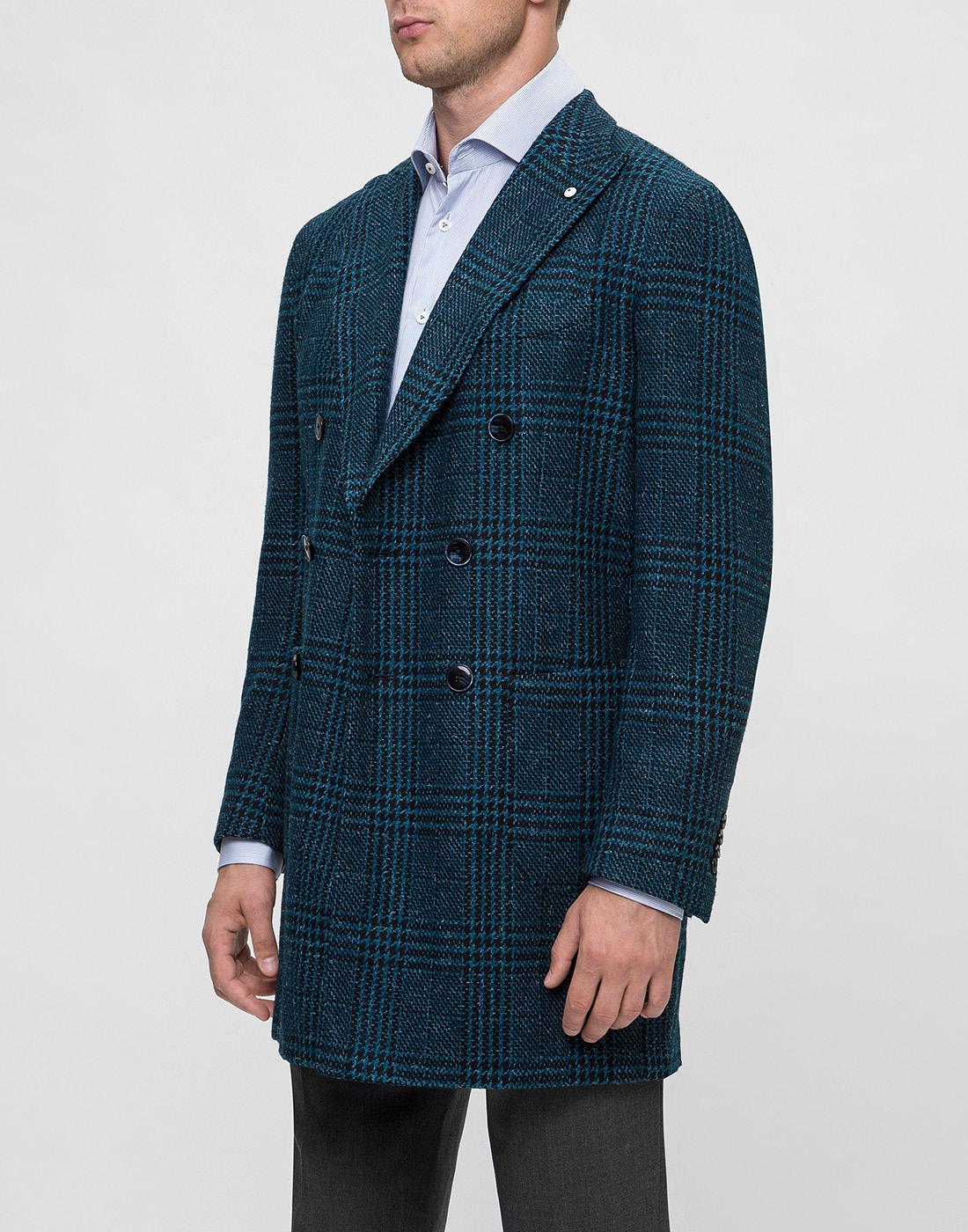 Мужское зеленое шерстяное пальто Lubiam S85086/6 7468-3