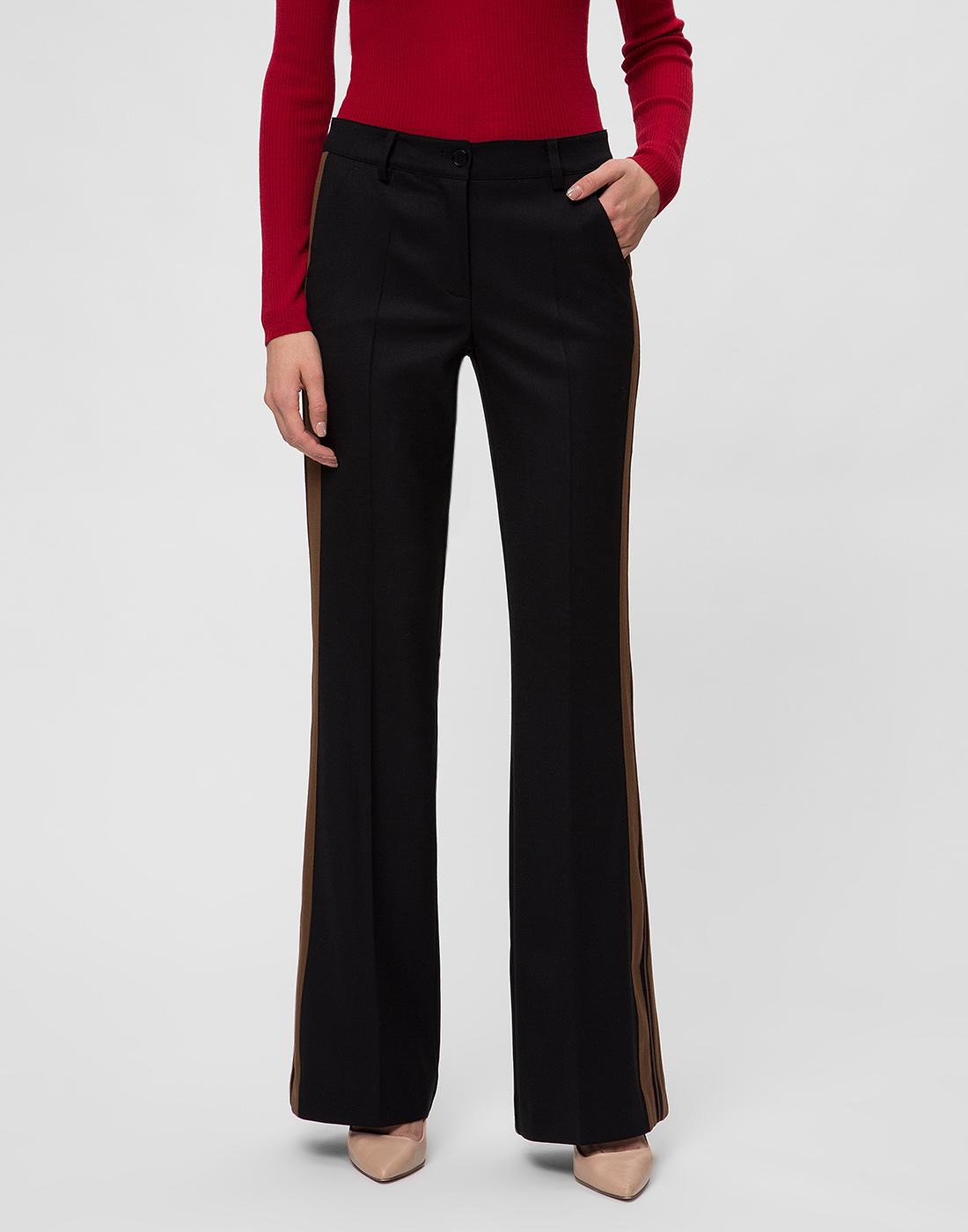 Женские черные шерстяные брюки P.A.R.O.S.H. SLILIU D230311-2