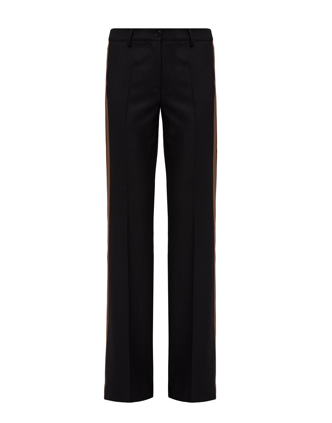 Женские черные шерстяные брюки P.A.R.O.S.H. SLILIU D230311-1