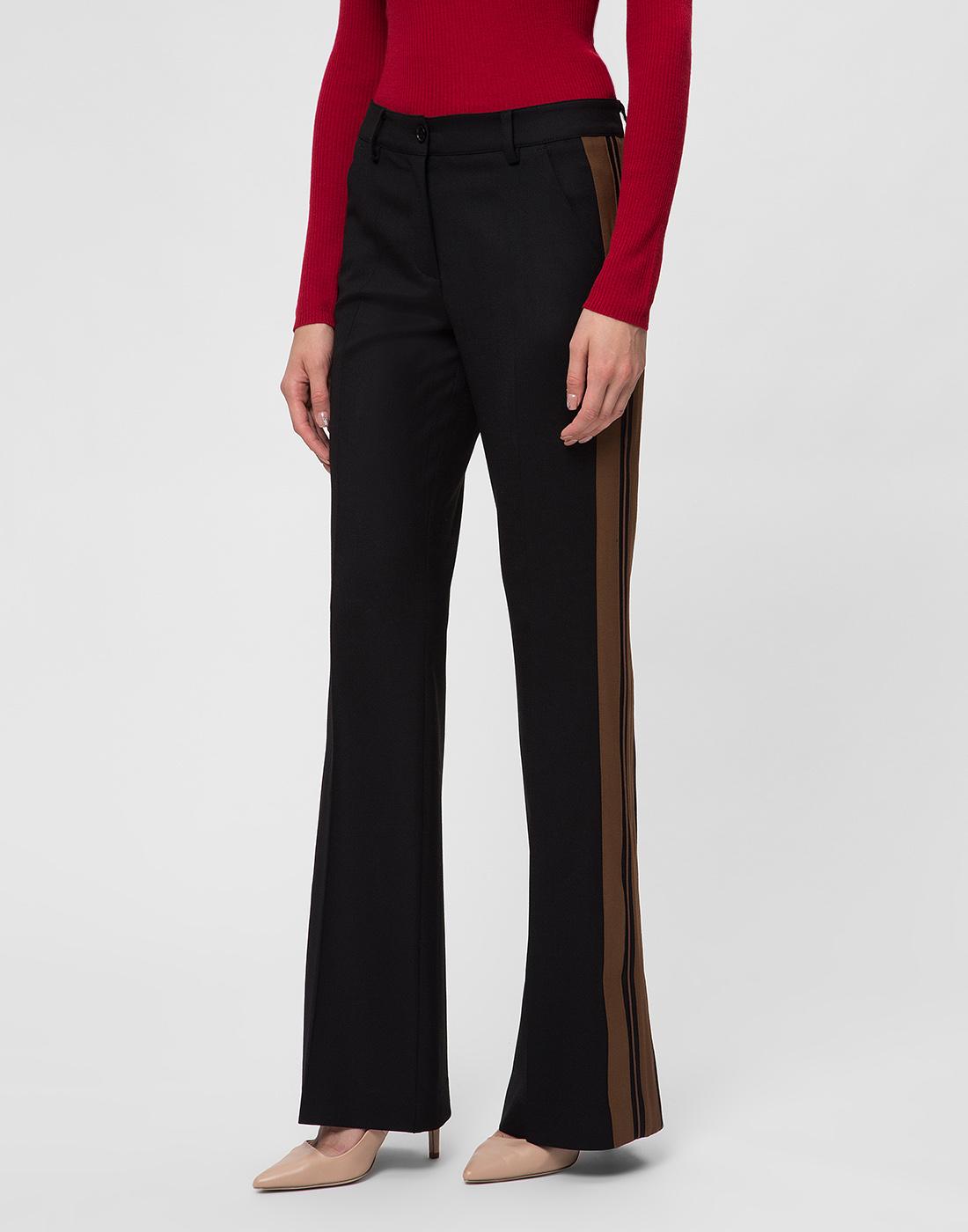 Женские черные шерстяные брюки P.A.R.O.S.H. SLILIU D230311-3