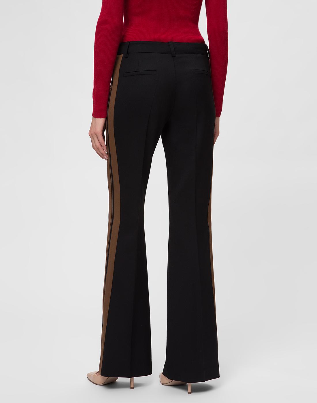 Женские черные шерстяные брюки P.A.R.O.S.H. SLILIU D230311-4