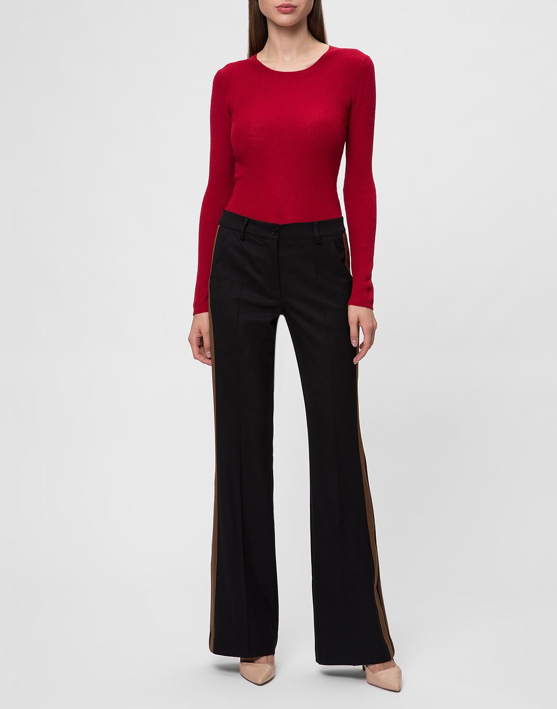 Женские черные шерстяные брюки P.A.R.O.S.H. SLILIU D230311-5